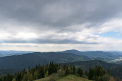 The mountains. Ivano-Frankivsk Carpathian Mountains. May landscape Royalty Free Stock Photos