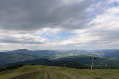 The mountains. Ivano-Frankivsk Carpathian Mountains. May landscape Royalty Free Stock Image