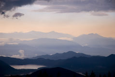 Mountains of Japan. View from Mount Fuji in Japan Royalty Free Stock Photos