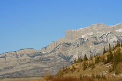 Mountains of jasper. Jasper national park, first days of winter, alberta, canada Royalty Free Stock Photography