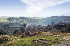 Mountains of  Jimena de La Frontera Royalty Free Stock Photography