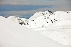 The mountains of the Kamchatka Peninsula after a spring snowfall Royalty Free Stock Photos