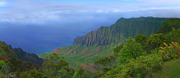 Mountains of Kauai Hawaii Royalty Free Stock Photo