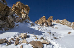 Mountains of Kazakhstan. Peak Youth Royalty Free Stock Photography
