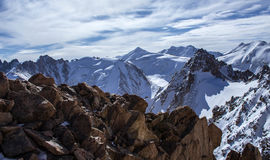 Mountains of Kazakhstan. Peak Youth Royalty Free Stock Photo