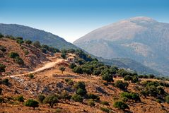 The Mountains Of Kefalonia Stock Photos