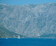 Mountains of Kotor bay in Montenegro royalty free stock photography