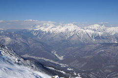 The mountains in Krasnaya Poly. Ana. Sochi - capital of Winter Olympic Games 2014. Russia Stock Image