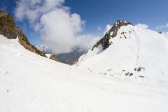 The mountains in Krasnaya Polyana, Sochi, Russia Royalty Free Stock Photography