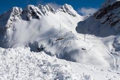 Mountains of Krasnaya Polyana, Sochi, Russia Royalty Free Stock Photos