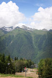 The mountains in Krasnaya Polyana, Sochi, Russia Royalty Free Stock Images