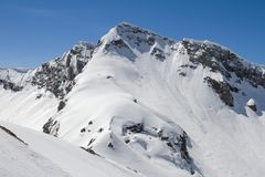 The mountains in Krasnaya Polyana, Sochi, Russia Stock Images