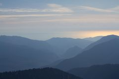 The mountains in Krasnaya Polyana, Sochi, Russia Royalty Free Stock Photo