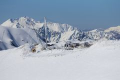 The mountains in Krasnaya Polyana (Sochi, Russia Royalty Free Stock Photos