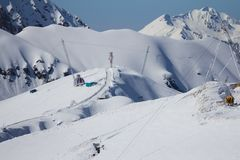 The mountains in Krasnaya Polyana (Sochi, Russia Stock Photos