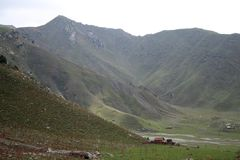 Mountains in Kyrgyzstan Royalty Free Stock Photography
