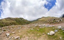 Mountains in Kyrgyzstan Stock Photo