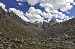 Mountains. Of Kyrgyzstan, peak Korona Stock Image