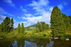 Mountains lake. Horizontal landscape with mountains lake.   Altai, Suberia Royalty Free Stock Photo