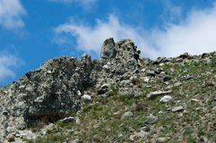 Mountains on Lake Baikal. Blue sky, sun day royalty free stock images