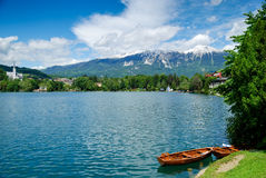 Mountains and lake Stock Image