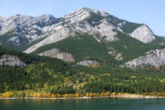 Mountains and lake in fall Royalty Free Stock Photos
