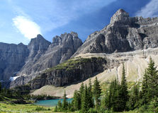 Mountains and Lake, Glacier N P Stock Photography