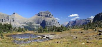 Mountains and Lake Glacier National Park Stock Photos