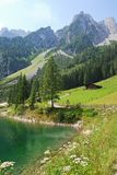 Mountains and lake at Gosau, Austria. In summer Stock Photo