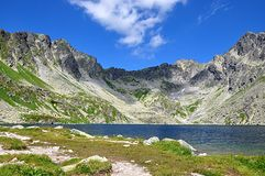 Mountains and lake. High Tatras, Slovakia, Europe, mountains and lake Royalty Free Stock Photos