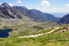 Mountains and Lake, High Tatras, Slovakia, Europe Royalty Free Stock Photos