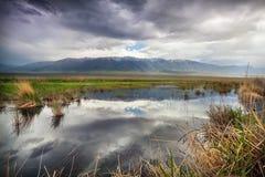 Mountains and lake in Kazakhstan Stock Photo