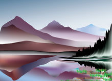 Mountains and lake landscape Stock Photography