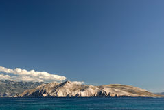 Mountains lake. Landscape clear blue sky Stock Image