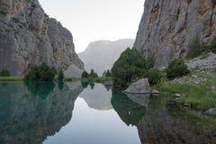 Mountains lake likes mirror Royalty Free Stock Photos