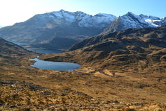 Mountains' lake (loch) in Scotland. Loch Coruisk on Isle of Skye, Scotland Royalty Free Stock Images