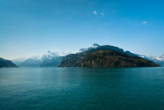 Mountains at lake lucern Royalty Free Stock Photography