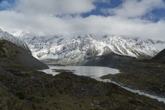 Mountains and lake in New Zealand Royalty Free Stock Photos