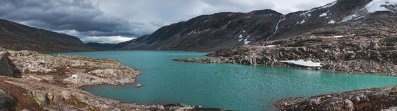 Mountains and lake panorama Royalty Free Stock Image
