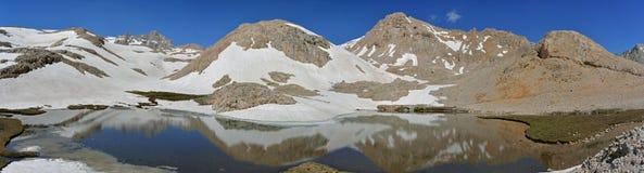 Mountains & lake - panoramic view Stock Images