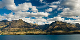 Mountains at lake pukaki Stock Image