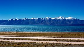 Mountains and lake in Qinghai-Tibet Plateau. ,Himalaya, cloudy Stock Images
