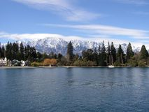 Mountains and lake in Queenstown Stock Image