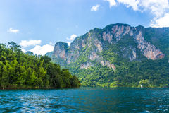 Mountains lake river sky and natural Royalty Free Stock Image