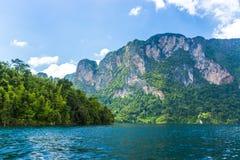 Mountains lake river sky and natural Royalty Free Stock Image