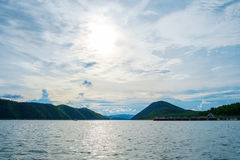 Mountains lake river sky and natural attractions Royalty Free Stock Images