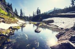 Mountains lake Stock Images