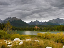 Mountains Lake, Stunning Clouds Stock Photo