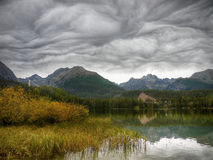 Mountains Lake, Stunning Clouds Formation Stock Image