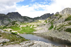 Mountains and lake in the summer, High Tatras, Slovakia, Europe Stock Photography
